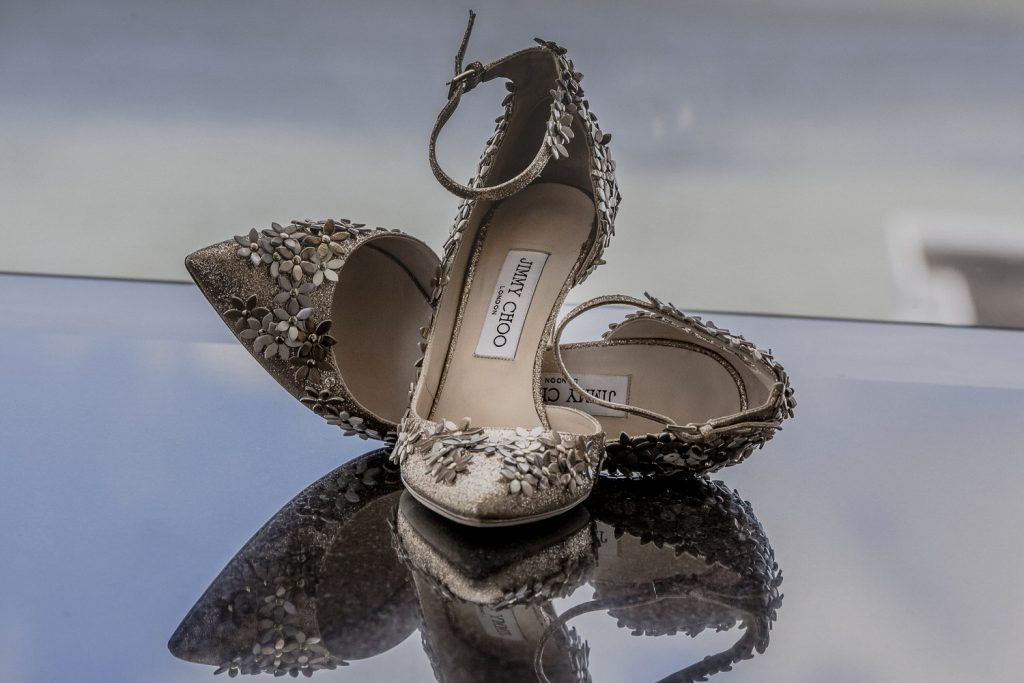Jimmy Choo shoes for bride