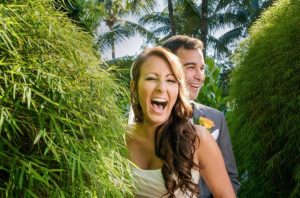 Wedding photography, Bride laughing