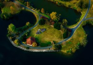 Drone photography of Wedding